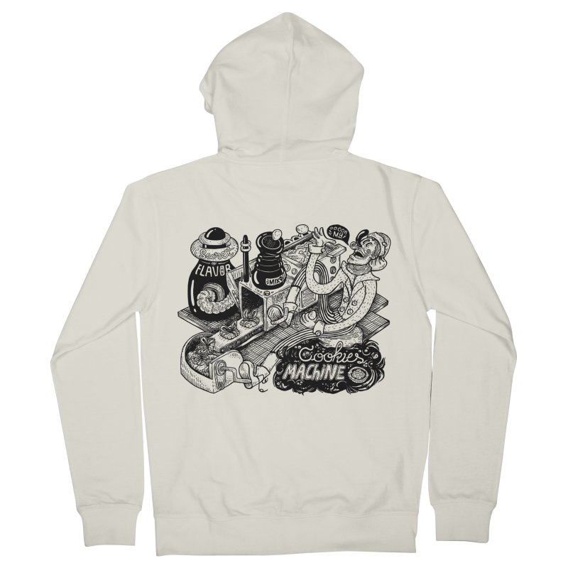 Cookies Machine Men's French Terry Zip-Up Hoody by MrCapdevila Artist Shop