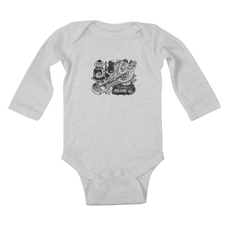 Cookies Machine Kids Baby Longsleeve Bodysuit by MrCapdevila Artist Shop