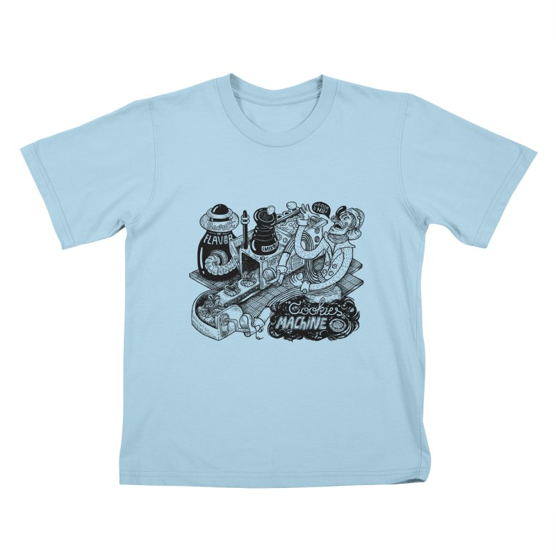 Cookies Machine Kids T-Shirt by MrCapdevila Artist Shop