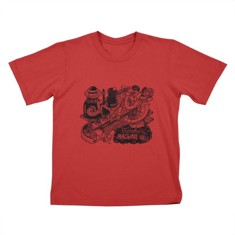 Cookies Machine Kids T-Shirt by MrCapdevila Artist Shop