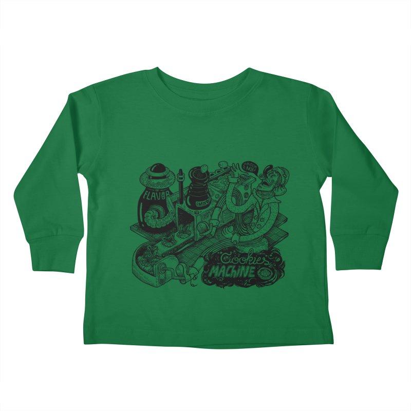 Cookies Machine Kids Toddler Longsleeve T-Shirt by MrCapdevila Artist Shop