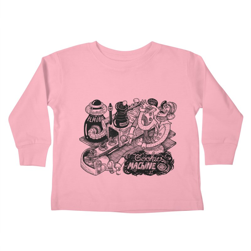 Cookies Machine Kids Toddler Longsleeve T-Shirt by MrCapdevila Artist Shop