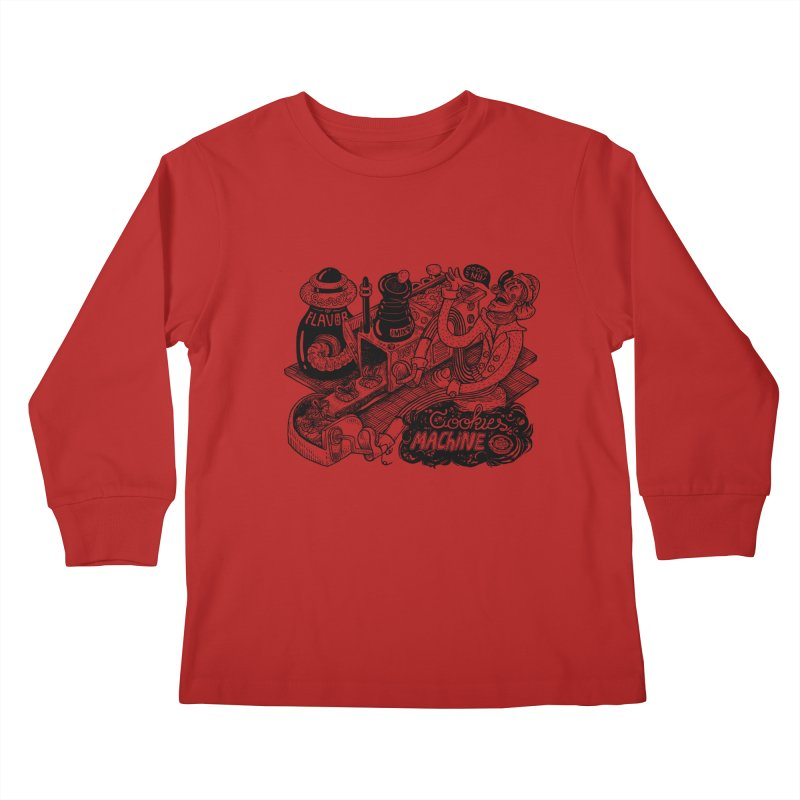 Cookies Machine Kids Longsleeve T-Shirt by MrCapdevila Artist Shop