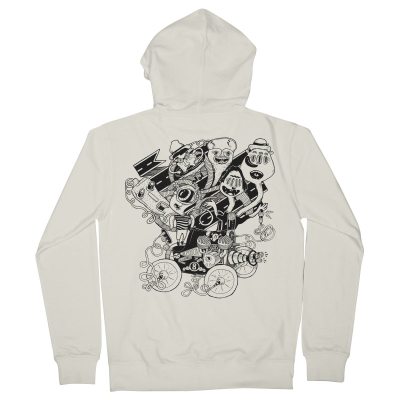 Monster RoadTrip Men's French Terry Zip-Up Hoody by MrCapdevila Artist Shop