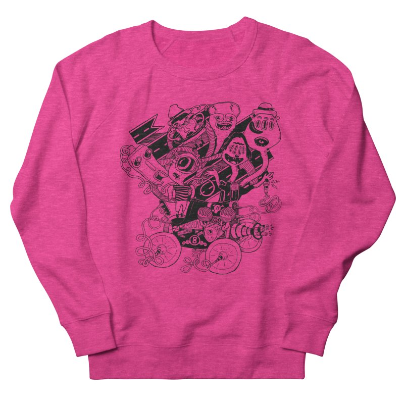 Monster RoadTrip Men's French Terry Sweatshirt by MrCapdevila Artist Shop