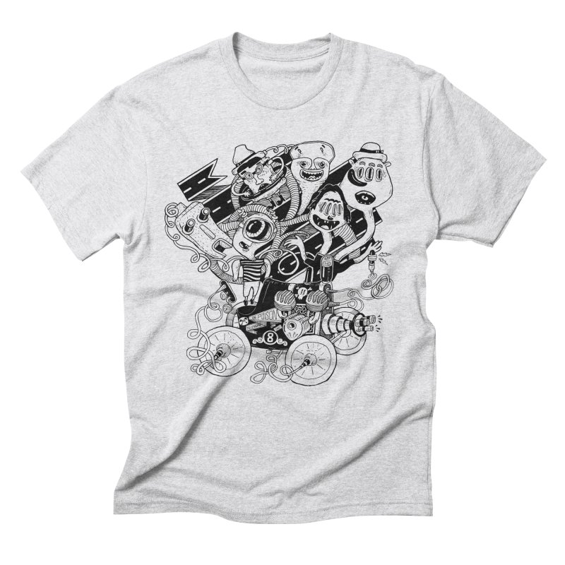 Monster RoadTrip Men's Triblend T-Shirt by MrCapdevila Artist Shop