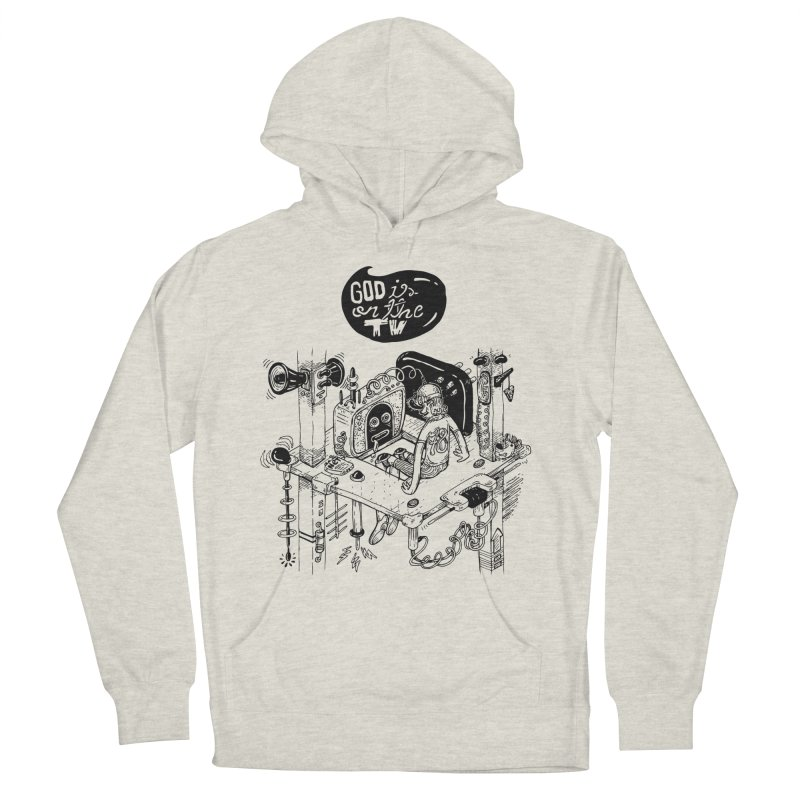 God is on the TV Men's Pullover Hoody by MrCapdevila Artist Shop