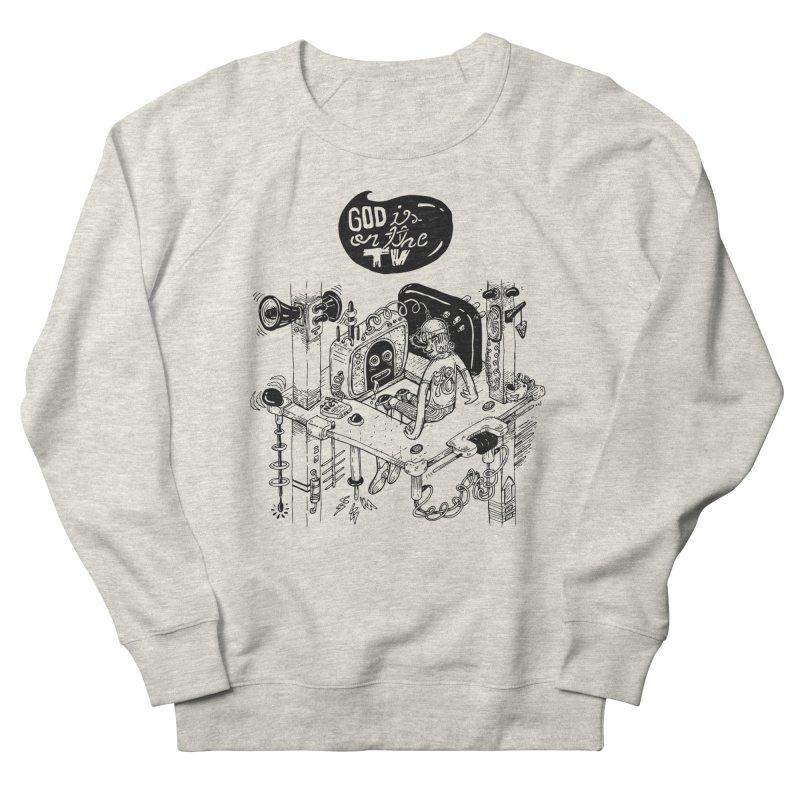 God is on the TV Men's Sweatshirt by MrCapdevila Artist Shop