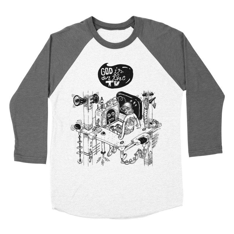 God is on the TV Men's Longsleeve T-Shirt by MrCapdevila Artist Shop