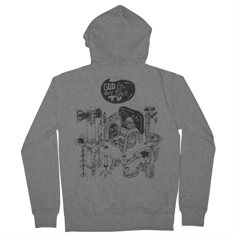 God is on the TV Men's Zip-Up Hoody by MrCapdevila Artist Shop