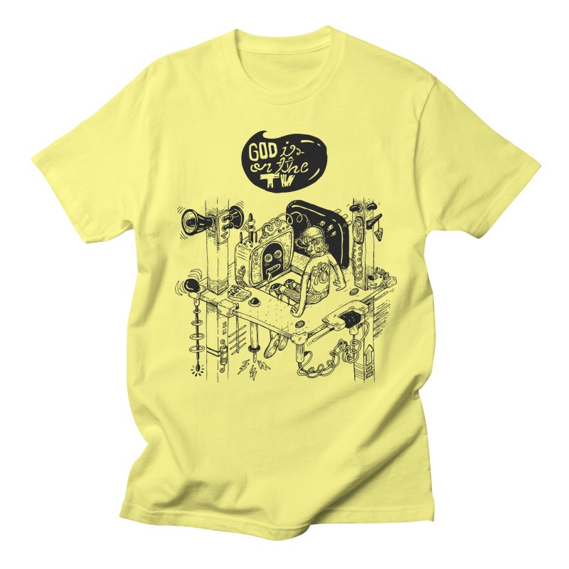 God is on the TV Men's Regular T-Shirt by MrCapdevila Artist Shop