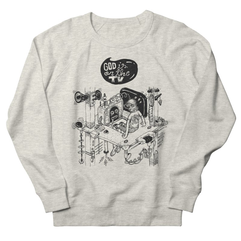 God is on the TV Men's Sweatshirt by MrCapdevila Artist Shop