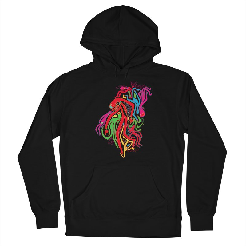 Ties! Men's French Terry Pullover Hoody by MrCapdevila Artist Shop
