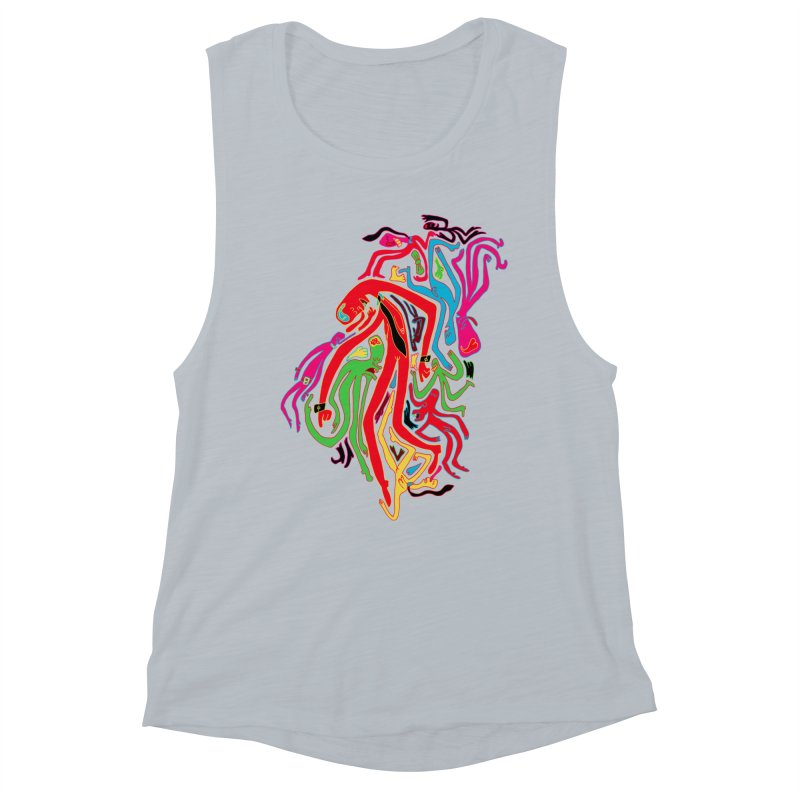 Ties! Women's Muscle Tank by MrCapdevila Artist Shop