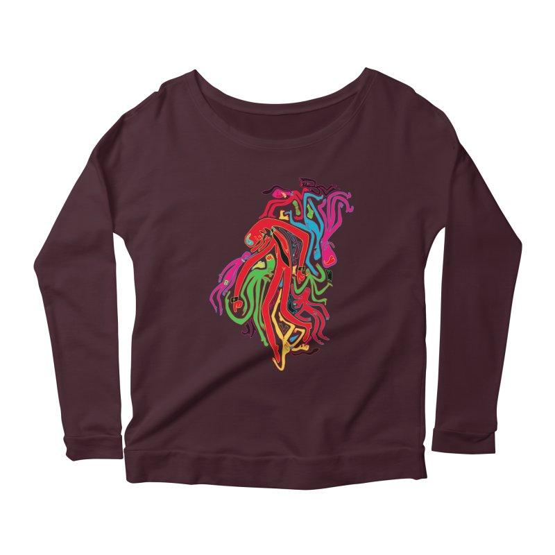 Ties! Women's Scoop Neck Longsleeve T-Shirt by MrCapdevila Artist Shop