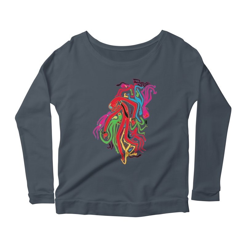 Ties! Women's Longsleeve Scoopneck  by MrCapdevila Artist Shop
