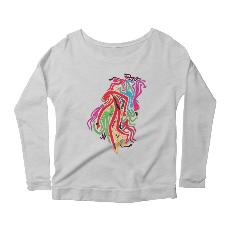 Ties! Women's Scoop Neck Longsleeve T-Shirt by MrCapdevila Artist Shop