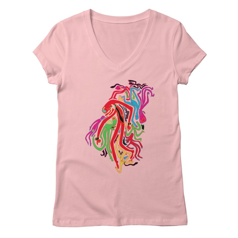 Ties! Women's Regular V-Neck by MrCapdevila Artist Shop