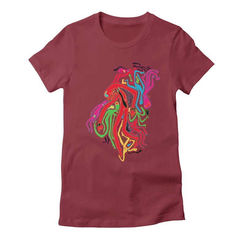 Ties! Women's Fitted T-Shirt by MrCapdevila Artist Shop