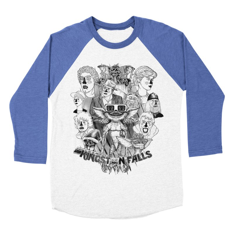 Kingstone Falls (1984) Men's Baseball Triblend T-Shirt by MrCapdevila Artist Shop