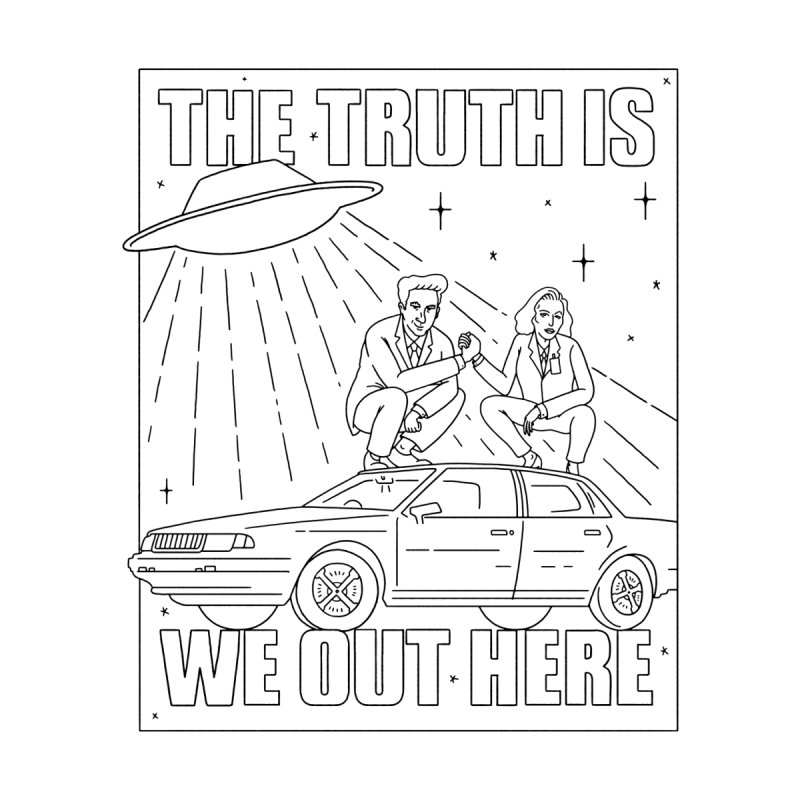 The Truth Is, We Out Here Men's Longsleeve T-Shirt by Mr. Chillustrator