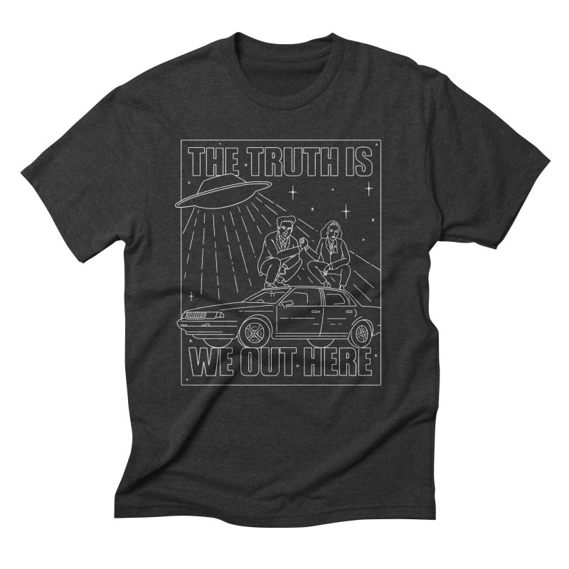The Truth Is, We Out Here Again Men's Triblend T-Shirt by Mr. Chillustrator