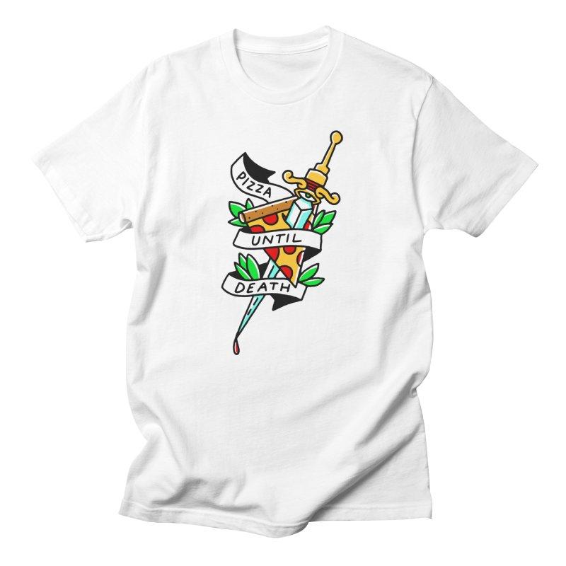 Pizza Until Death Men's T-Shirt by Mr. Chillustrator