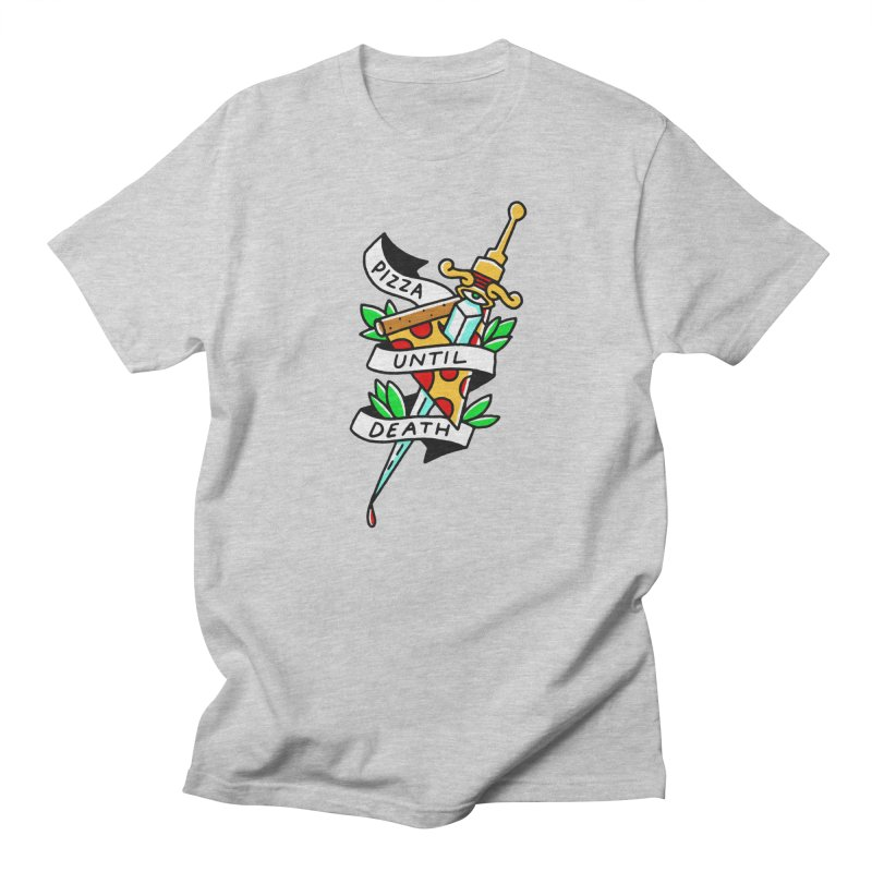 Pizza Until Death Men's Regular T-Shirt by Mr. Chillustrator
