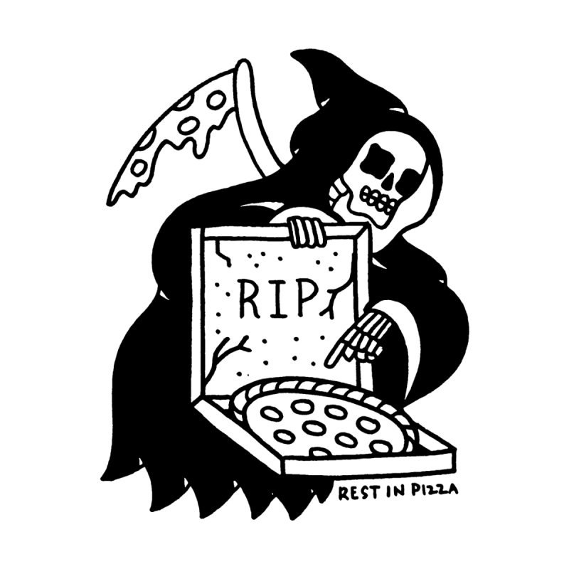 Rest In Pizza Men's T-Shirt by Mr. Chillustrator
