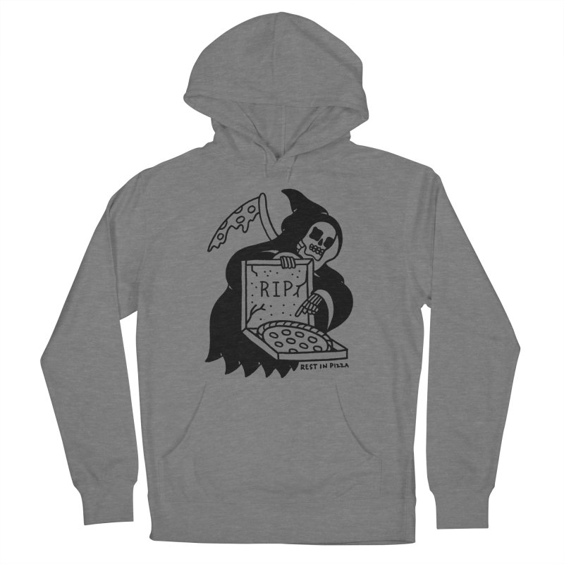 Rest In Pizza Men's French Terry Pullover Hoody by Mr. Chillustrator