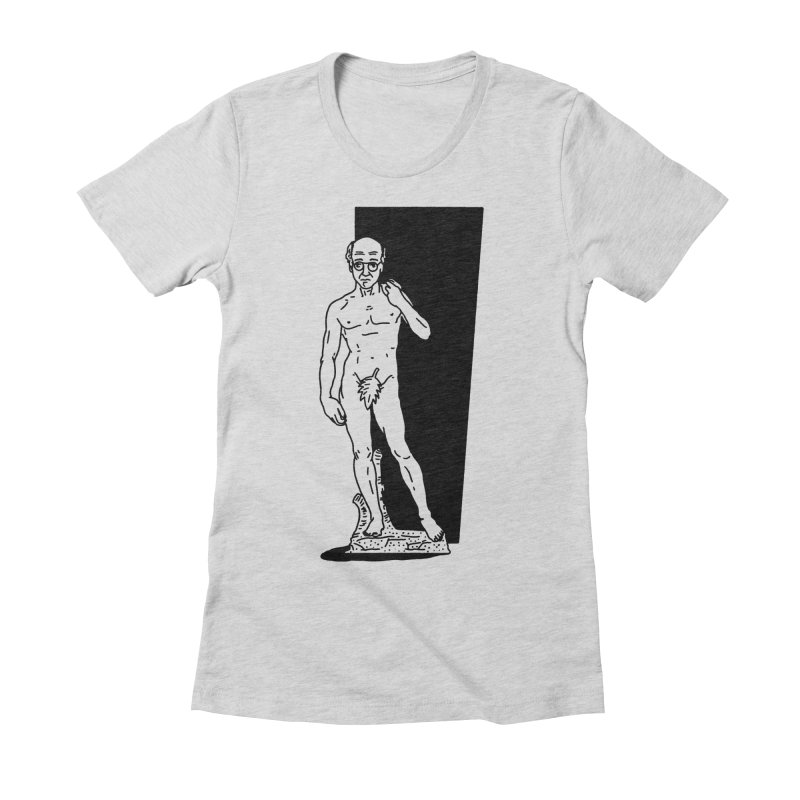 Statue of David Women's Fitted T-Shirt by Mr. Chillustrator