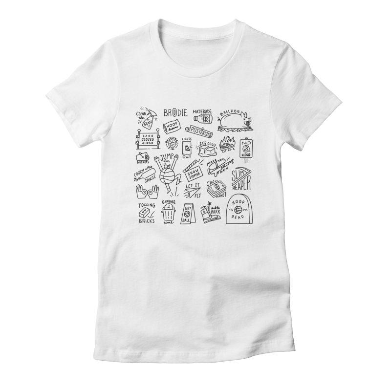 Ballerisms Women's Fitted T-Shirt by Mr. Chillustrator