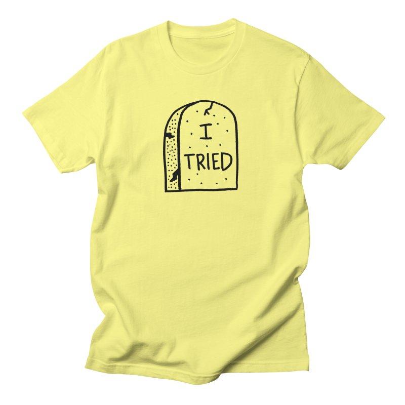 I tried, then I died. Men's Regular T-Shirt by Mr. Chillustrator