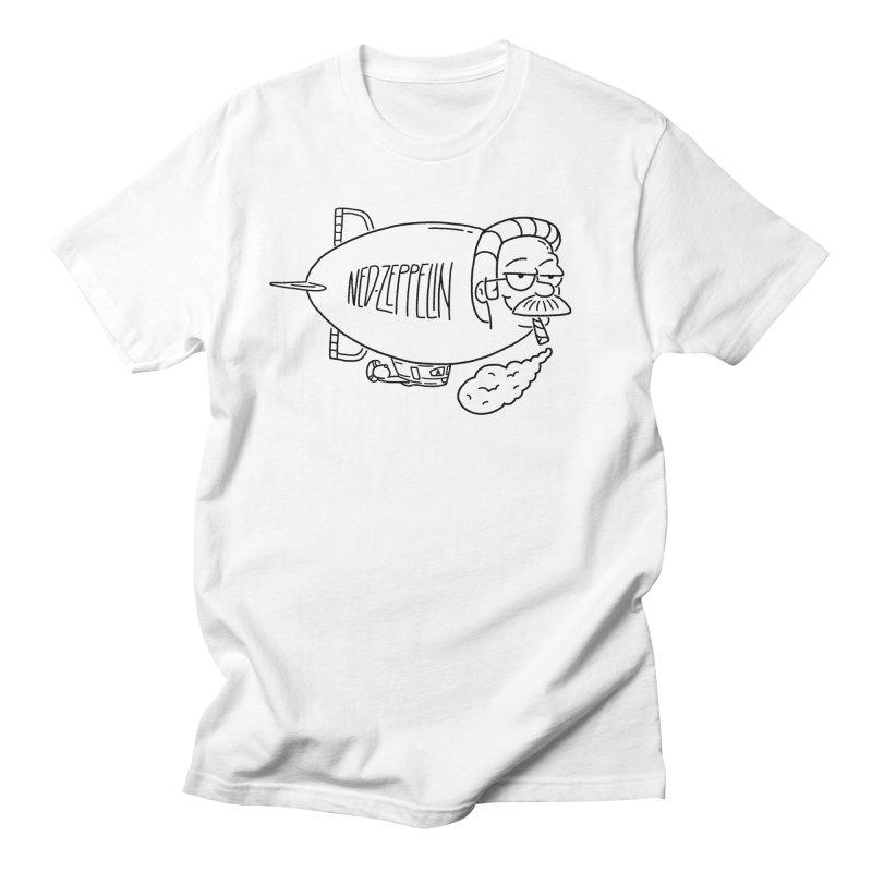 Ned Zeppelin Men's T-Shirt by Mr. Chillustrator