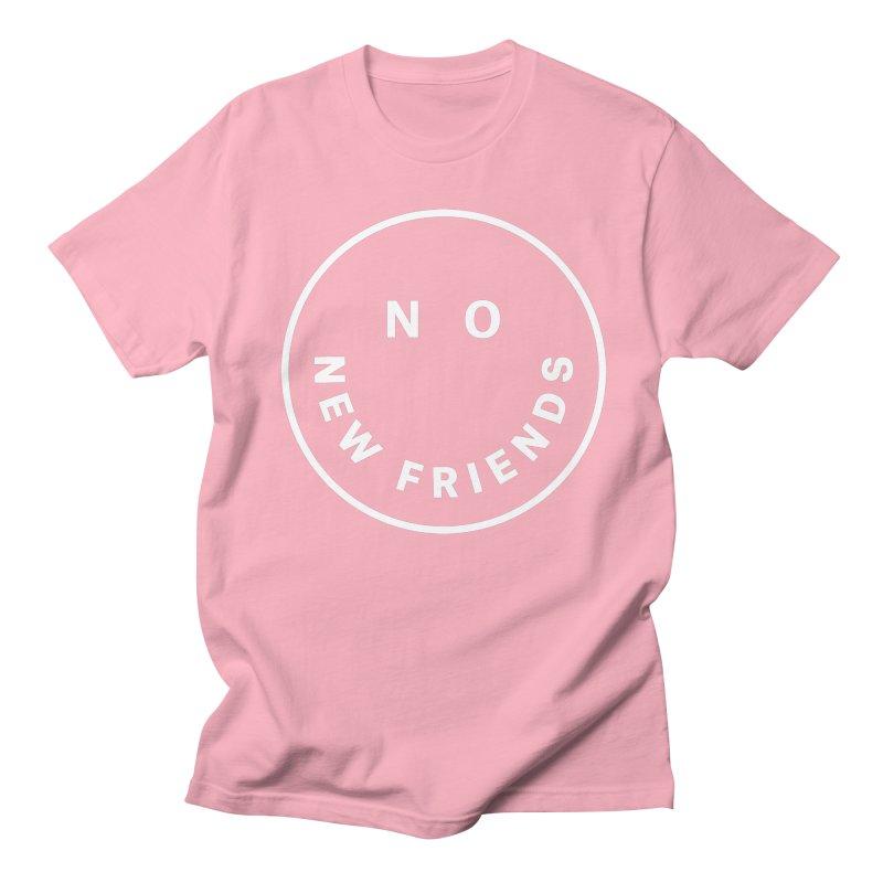 No New Friends Men's Regular T-Shirt by Mr. Chillustrator