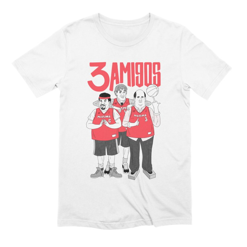3 Amigos Men's Extra Soft T-Shirt by Mr. Chillustrator