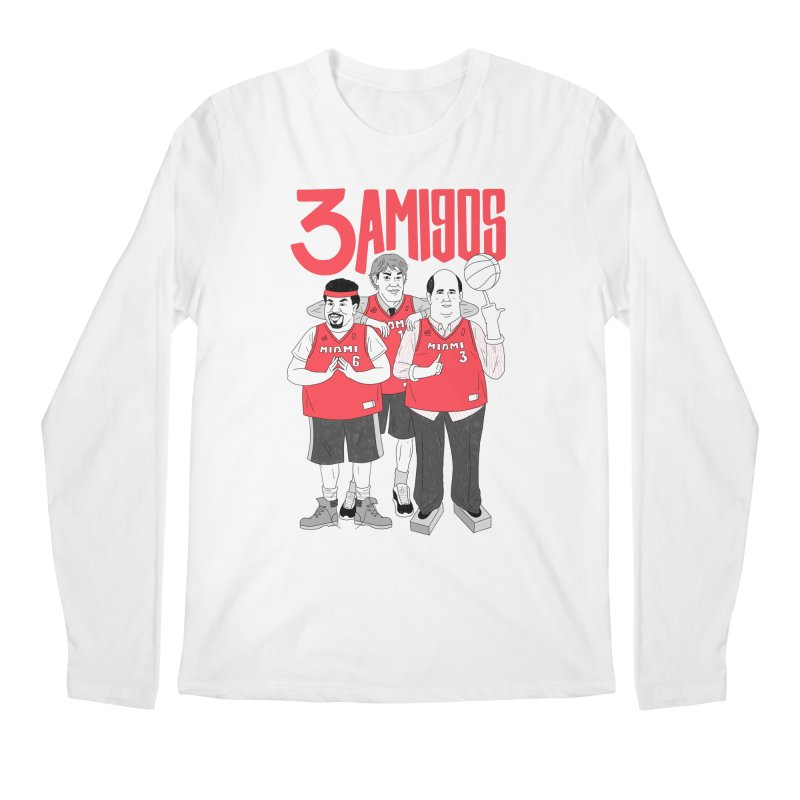 3 Amigos Men's Regular Longsleeve T-Shirt by Mr. Chillustrator