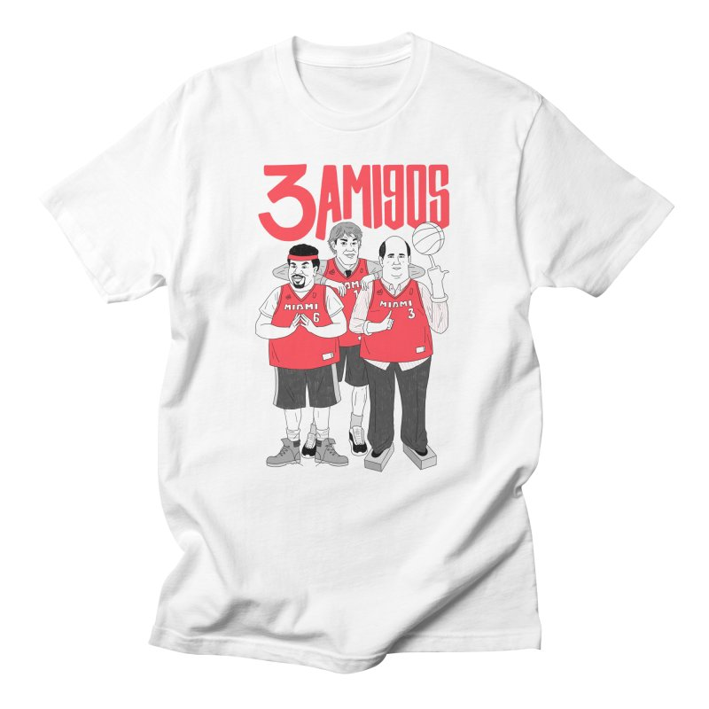3 Amigos Men's Regular T-Shirt by Mr. Chillustrator