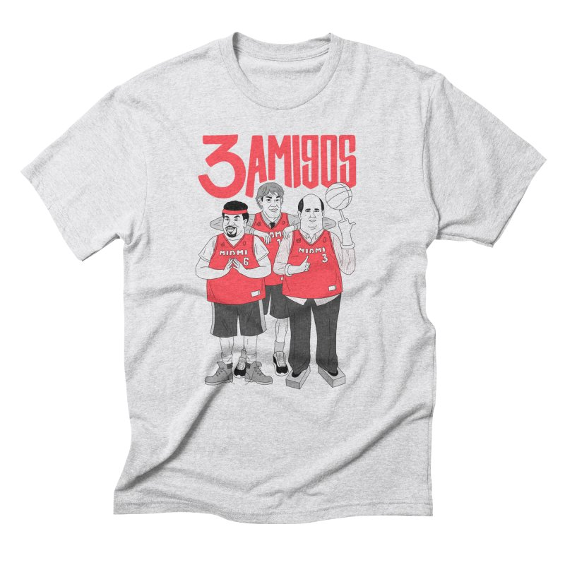 3 Amigos Men's Triblend T-Shirt by Mr. Chillustrator