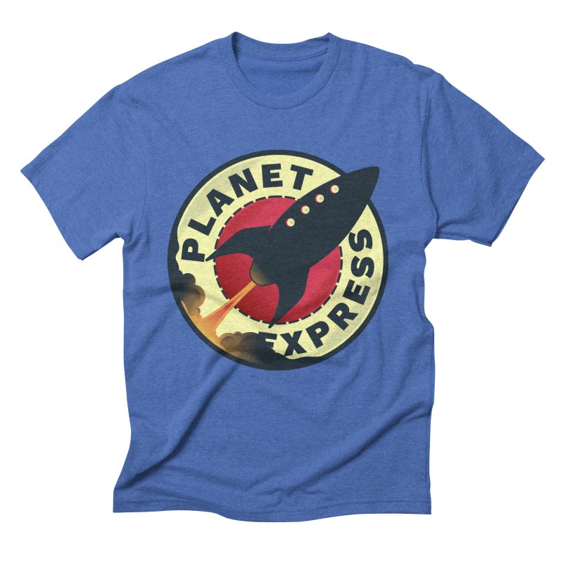 Planet Express Men's Triblend T-Shirt by mrchrisby's Artist Shop