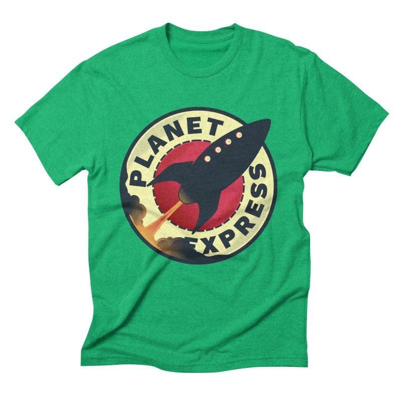 Planet Express Men's Triblend T-Shirt by mrchrisby's Artist Shop