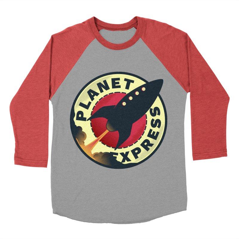 Planet Express Men's Baseball Triblend T-Shirt by mrchrisby's Artist Shop