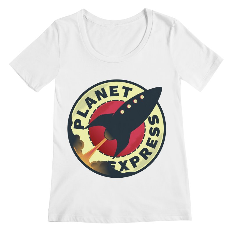 Planet Express Women's Regular Scoop Neck by mrchrisby's Artist Shop