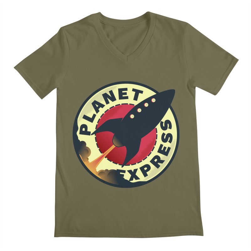 Planet Express Men's V-Neck by mrchrisby's Artist Shop