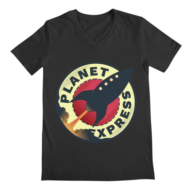 Planet Express Men's V-Neck by mrchrisby's Artist Shop