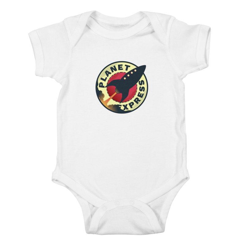 Planet Express Kids Baby Bodysuit by mrchrisby's Artist Shop