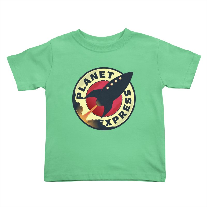 Planet Express Kids Toddler T-Shirt by mrchrisby's Artist Shop