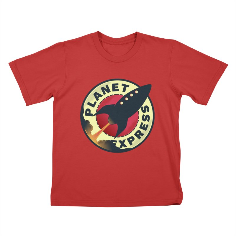 Planet Express Kids T-shirt by mrchrisby's Artist Shop