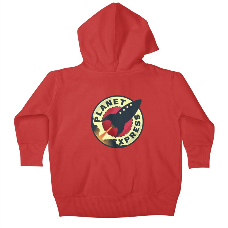 Planet Express Kids Baby Zip-Up Hoody by mrchrisby's Artist Shop
