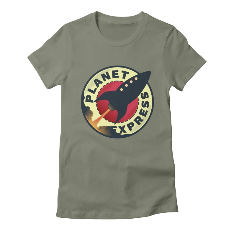 Planet Express Women's Fitted T-Shirt by mrchrisby's Artist Shop